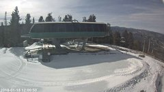 view from Angel Fire Resort - Chile Express on 2018-01-18