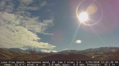view from Horseshoe Bend, Idaho CAM2 on 2018-01-20