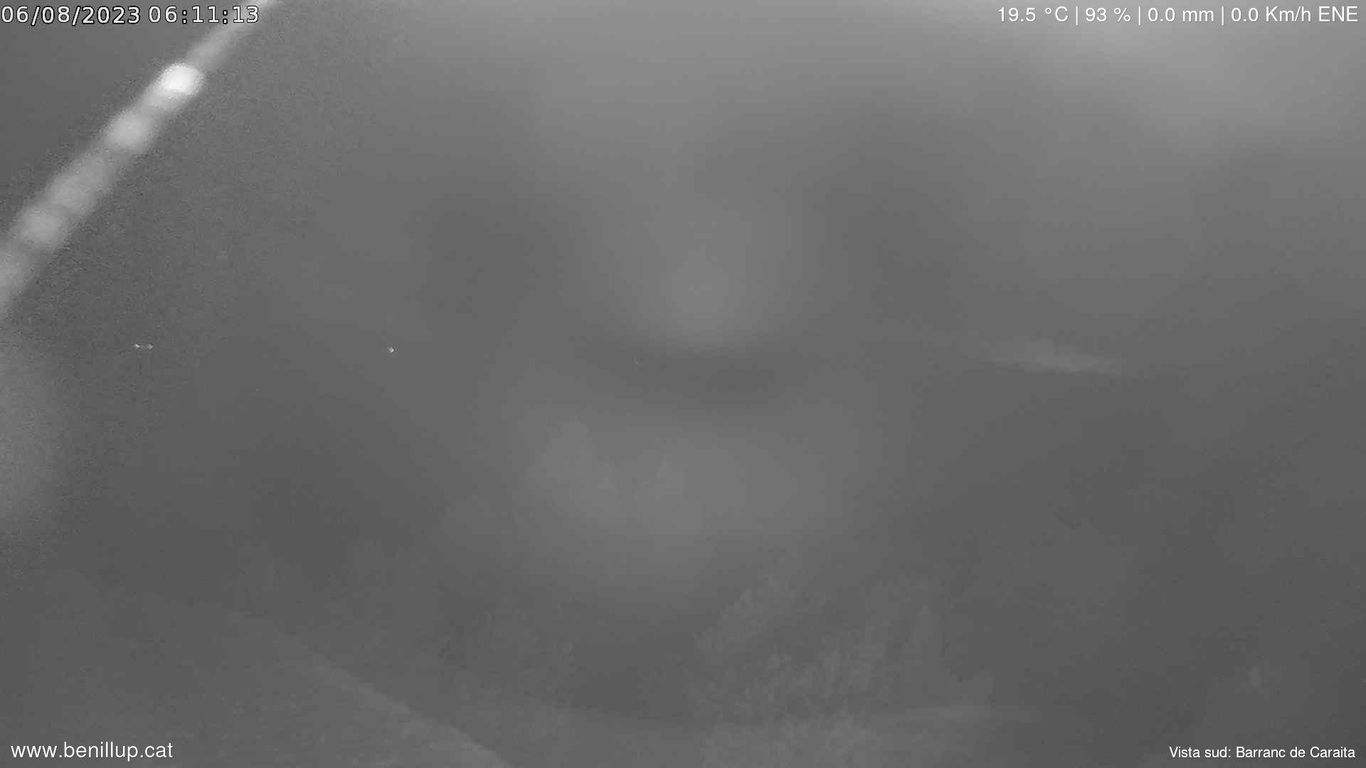 Webcam des de Benillup amb vistes Barranc de Caraita i Font Roja