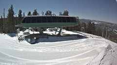 view from Angel Fire Resort - Chile Express on 2018-02-26