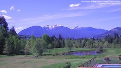 view from Olympic View Cabins Hurricane Ridge Cam on 2018-05-14