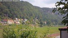 view from Webcam in Bad Schandau Sächsische Schweiz on 2018-06-04