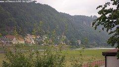 view from Webcam in Bad Schandau Sächsische Schweiz on 2018-06-12