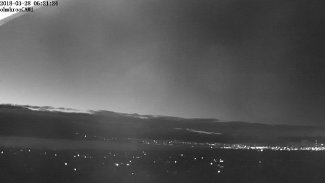 time-lapse frame, 2018-03-28 Fog Rolling webcam