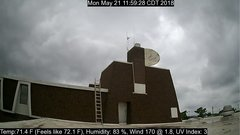 view from University Place Apartments - South Weather on 2018-05-21