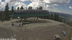view from Angel Fire Resort - Chile Express on 2018-07-08