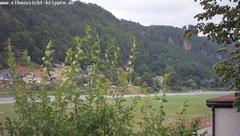 view from Webcam in Bad Schandau Sächsische Schweiz on 2018-06-23