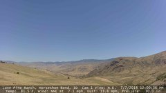 view from Horseshoe Bend, Idaho CAM1 on 2018-07-07