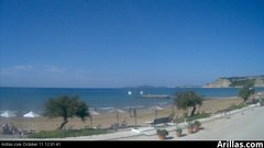 view from Arillas Corfu Live Webcam on 2018-10-11