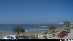 view from Arillas Corfu Live Webcam on 2018-10-20
