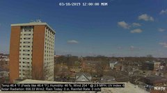 view from University Place Apartments - North Weather on 2019-03-18