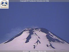 view from Villarrica Volcano on 2019-02-09