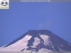 view from Villarrica Volcano on 2019-04-21