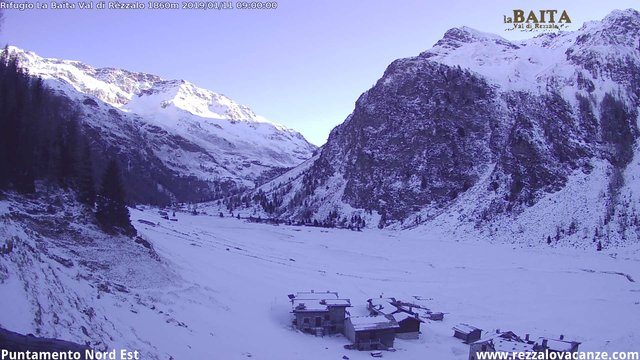 time-lapse frame, Val di Rèzzalo NE webcam