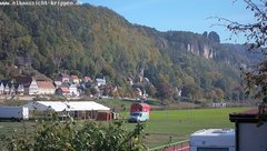 view from Webcam in Bad Schandau Sächsische Schweiz on 2018-10-08