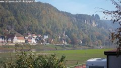 view from Webcam in Bad Schandau Sächsische Schweiz on 2018-10-10