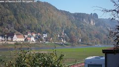 view from Webcam in Bad Schandau Sächsische Schweiz on 2018-10-12