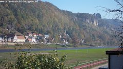 view from Webcam in Bad Schandau Sächsische Schweiz on 2018-10-14