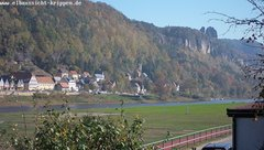 view from Webcam in Bad Schandau Sächsische Schweiz on 2018-10-16
