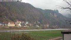 view from Webcam in Bad Schandau Sächsische Schweiz on 2018-12-03