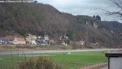 view from Webcam in Bad Schandau Sächsische Schweiz on 2018-12-09