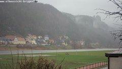 view from Webcam in Bad Schandau Sächsische Schweiz on 2018-12-11