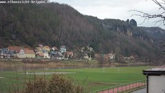 view from Webcam in Bad Schandau Sächsische Schweiz on 2019-01-06