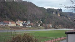 view from Webcam in Bad Schandau Sächsische Schweiz on 2019-01-08