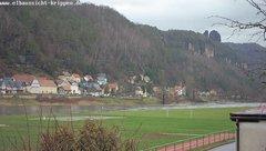 view from Webcam in Bad Schandau Sächsische Schweiz on 2019-01-13
