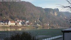 view from Webcam in Bad Schandau Sächsische Schweiz on 2019-01-19