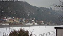 view from Webcam in Bad Schandau Sächsische Schweiz on 2019-02-07