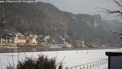 view from Webcam in Bad Schandau Sächsische Schweiz on 2019-02-08