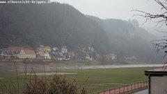 view from Webcam in Bad Schandau Sächsische Schweiz on 2019-02-13