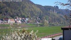 view from Webcam in Bad Schandau Sächsische Schweiz on 2019-04-19