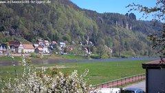 view from Webcam in Bad Schandau Sächsische Schweiz on 2019-04-22
