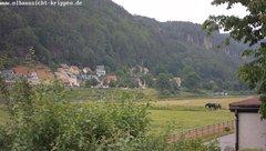 view from Webcam in Bad Schandau Sächsische Schweiz on 2019-06-10