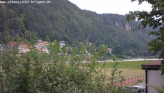view from Webcam in Bad Schandau Sächsische Schweiz on 2019-08-05