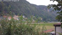 view from Webcam in Bad Schandau Sächsische Schweiz on 2019-08-07
