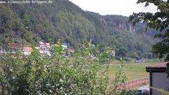 view from Webcam in Bad Schandau Sächsische Schweiz on 2019-08-08