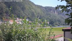view from Webcam in Bad Schandau Sächsische Schweiz on 2019-08-11
