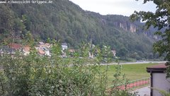 view from Webcam in Bad Schandau Sächsische Schweiz on 2019-08-17