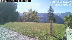 view from Verbier Snowcam2 on 2018-10-09