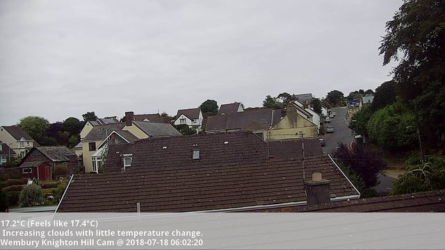 time-lapse frame, Chaotic Clouds webcam