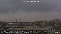 view from University Place Apartments - West Weather on 2019-04-11