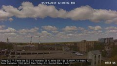 view from University Place Apartments - West Weather on 2019-04-19