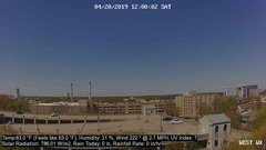 view from University Place Apartments - West Weather on 2019-04-20