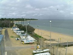 view from Cowes Yacht Club - West on 2019-02-04