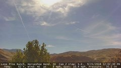 view from Horseshoe Bend, Idaho CAM2 on 2018-09-21