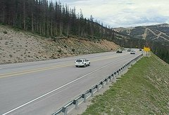 view from 4 - Highway 50 Road Conditions on 2018-07-13