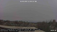 view from University Place Apartments - South Weather on 2019-02-05
